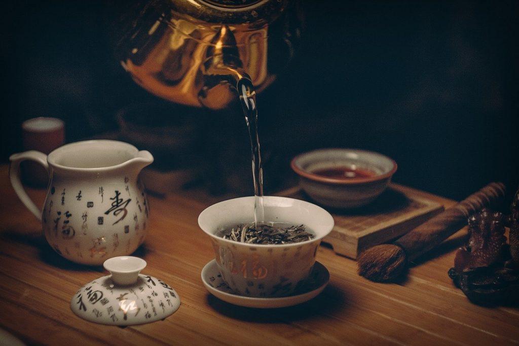 Thé vert et caféine
